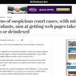 誹謗中傷記事の削除(逆SEO)を狙った偽の訴訟が行われた事例