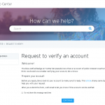 Twitterの認証バッジの申込み方法と手順1