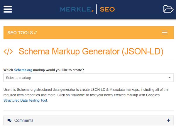 seo schema orgの構造化データを簡単に作成するツール schema markup