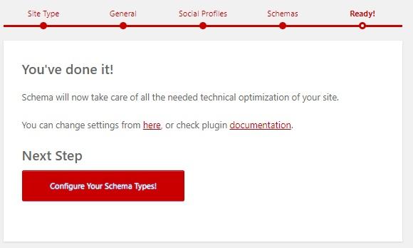 10:設定完了。『Configure-Your-Schema-Types』をクリック