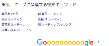 2-検索順位上位と関連ワードの関係性を示す例